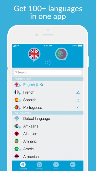 Speak 2 Translate -Live Voice and Text Translator with Speech Screenshot 5