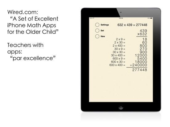 Partial Product Multiplication Screenshots