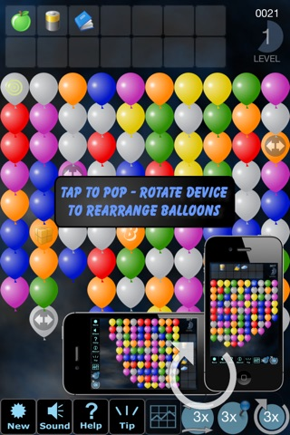 Tap 'n' Pop Classic (Lite): Balloon Group Remove screenshot 1