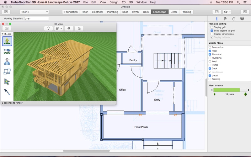Turbofloorplan home and landscape deluxe 2017 by imsi design for Garden design mac os x