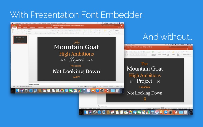 Presentation Font Embedder Screenshot - 1