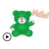 Quang Tran Vinh - Animated Green Bear Sticker  artwork