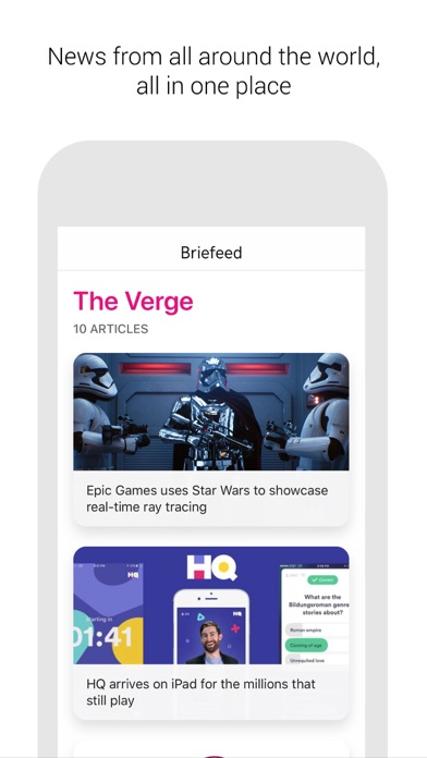 Screenshot of Briefeed1