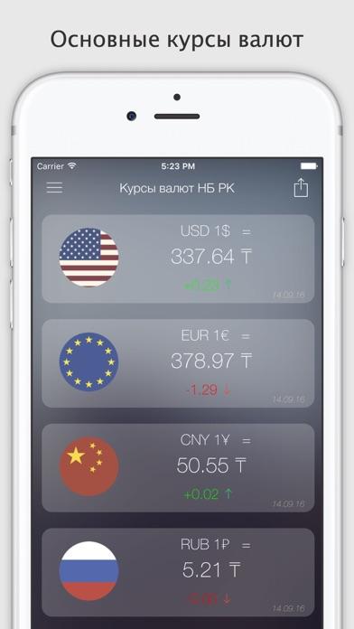 Курсы валют КазахстанаСкриншоты 1