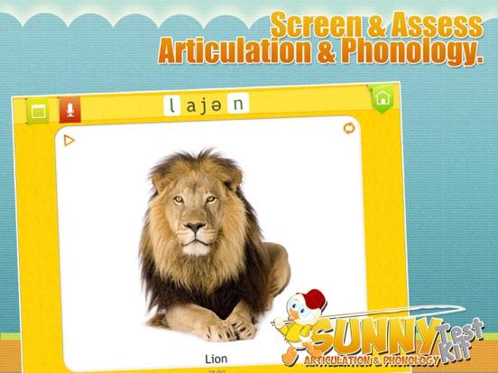 Screenshot #1 for Sunny Articulation Test