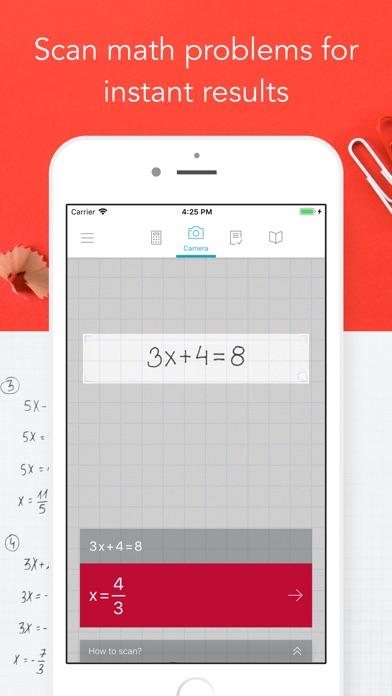 Photomath Screenshot on iOS