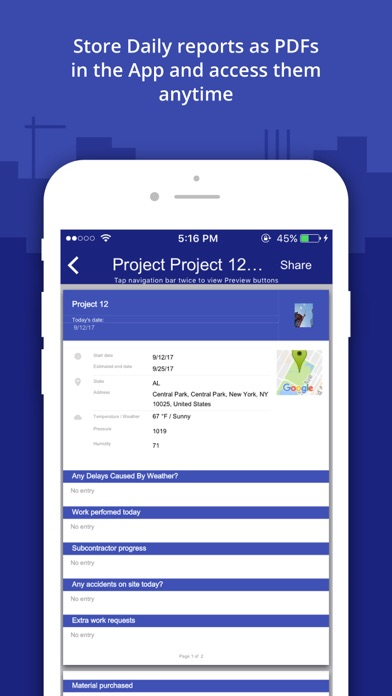 Construction daily log app on the app store for Application ipad construction maison