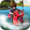 Water Wave Surfing - Bike rider