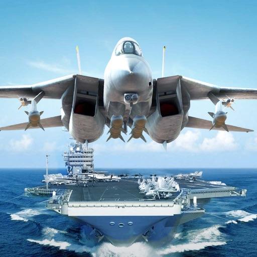 战舰警戒战争 - 航母猎手飞机游戏