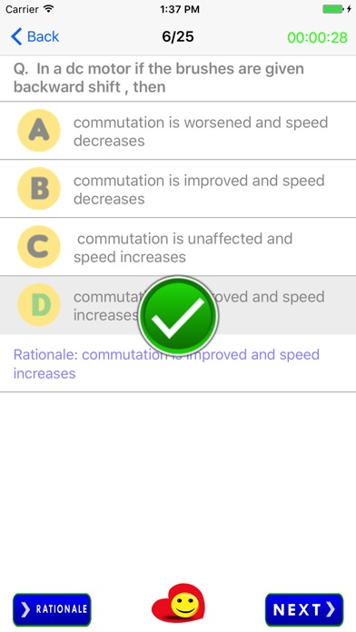 Screenshot of Ingegneria Elettrica Quiz Free3