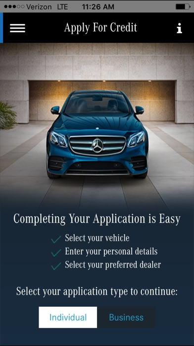 My mbfs for iphone on the app store for Mercedes benz credit score requirements