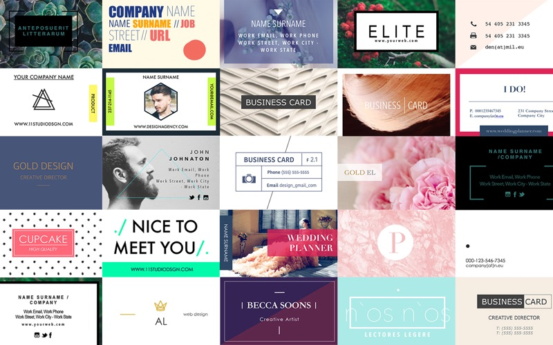 GN Business Cards for Pages - Templates Bundle 앱스토어 스크린샷
