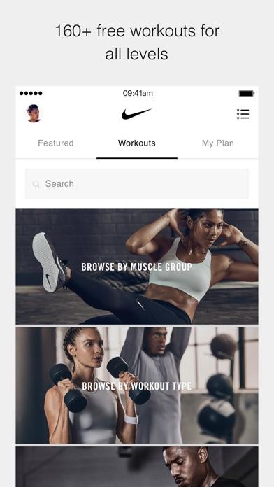 Nike Training Club screenshot one