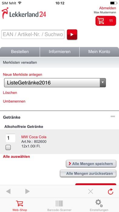 Screenshot von Lekkerland244