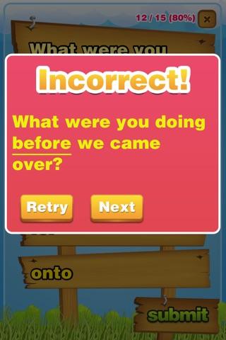 Prepositions Grammar Quiz K-5 screenshot 4
