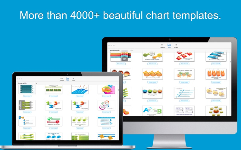 Infographic-(3000+)Chart template set for Keynote for Mac