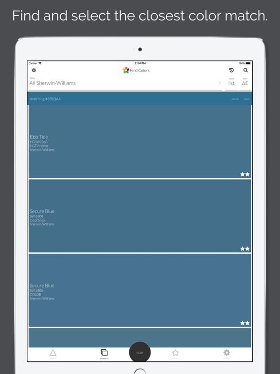 App shopper colorsnap match productivity for Paint color matching app