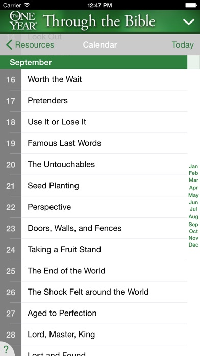 One Year Thru The Bible Devo review screenshots