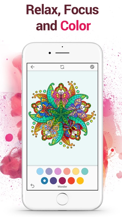 Colorflow Adult Coloring Book screenshot 1