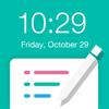 待ち受けロック画面メモ - 絶対に忘れたくない時に役立つ壁紙加工&文字入れ&編集アプリ