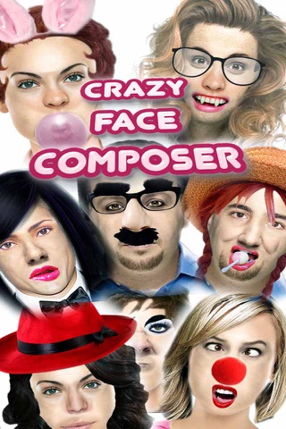 Crazy Faces Composer- Edit your photos to create funny memes screenshot 1
