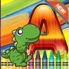 Dinosaur world Alphabet Coloring Book Grade 1-6: coloring pages learning games free for kids and toddlers