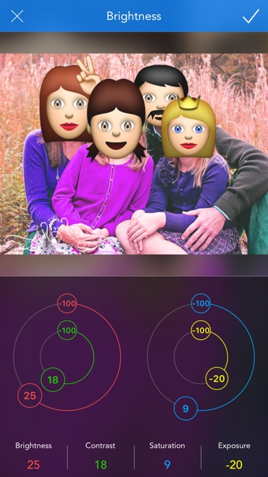 Emoji Camera - taking colorful photos with emojis Screenshots