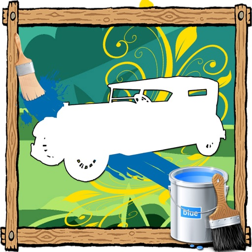 Coloring Page For Kids Game car Edition iOS App