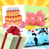 Birthday Greeting Cards - Text on Pictures: Happy Birthday Greetings
