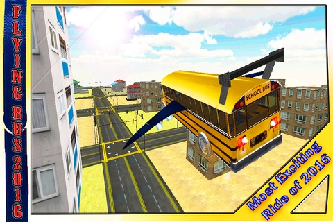 School Bus Jet 2016 – Flying Public Transport Flight with Extreme Skydiving Air Stunts screenshot 1