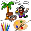 Paint Color Kid - Childrens's Drawing Desk , Paintbrush, Draw,Doodle, Sketch Coloring Book.