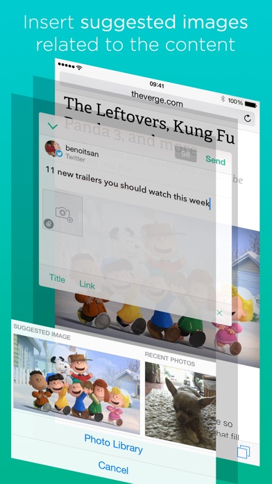 Linky for Twitter and Facebook Screenshot
