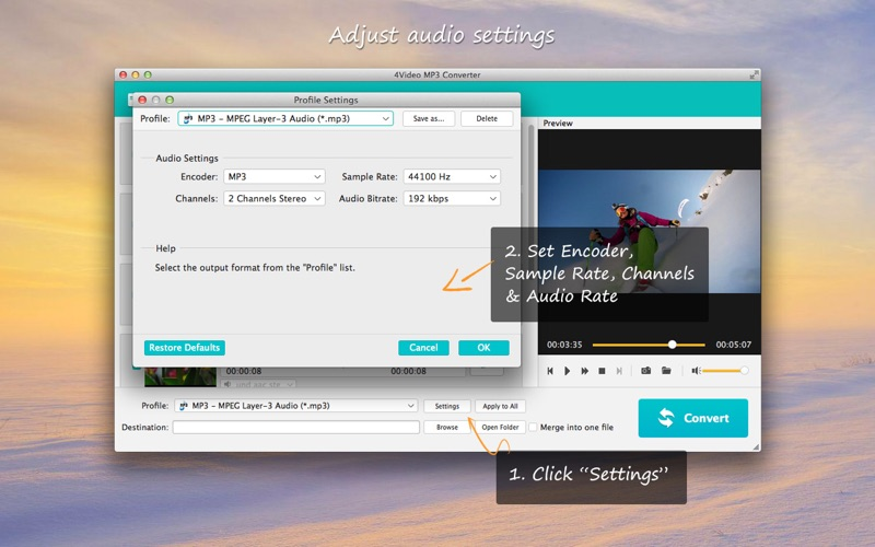 4Video MP3 Converter Screenshots