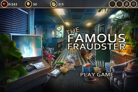 The Famous Fraudster- Hidden Object Game screenshot 1