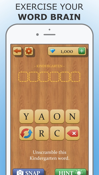 Impossible Words - Toughest Word Unscrambling Puzzle Game for Brain Training Screenshot