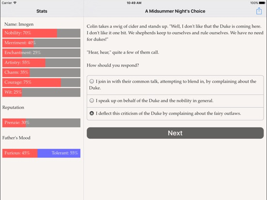A Midsummer Night's Choice для iPad