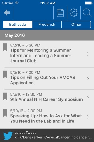 NCI @ NIH Summer Internship Program screenshot 3