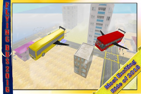 School Bus Jet 2016 – Flying Public Transport Flight with Extreme Skydiving Air Stunts screenshot 3