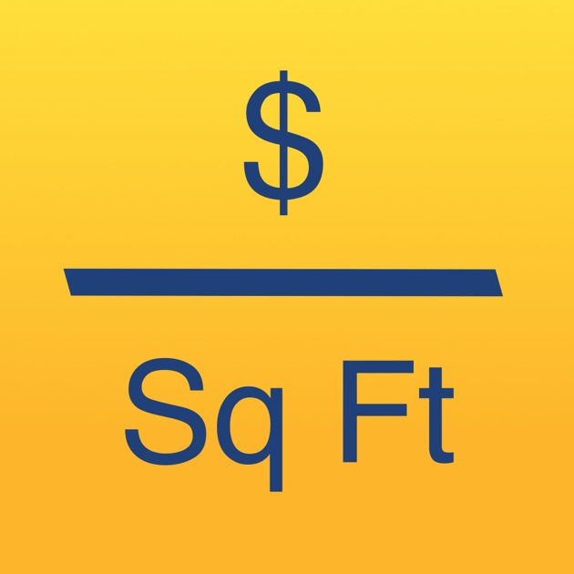 Cost Per Square Foot Calculator On The App Store