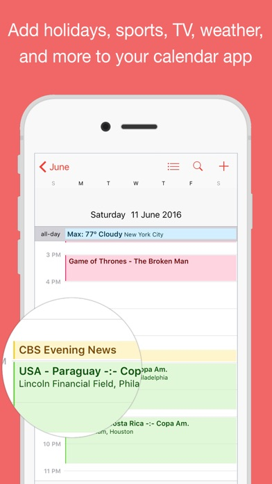 Calendars for Sports and Holidays (SchedJoules) on the App Store