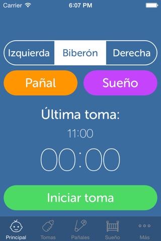 Baby Feeding Log - Newborn Breastfeeding, Bottle and Nursing Tracker with Timer screenshot 1