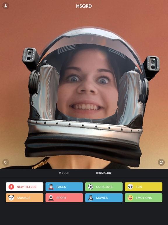 MSQRD — Live-Filter für Video-Selfies Screenshot
