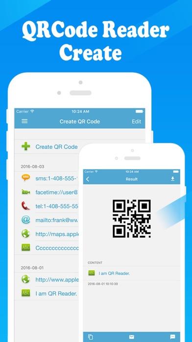 QR Reader - 二次元コード読取 二次元コード生成の作成のスクリーンショット2