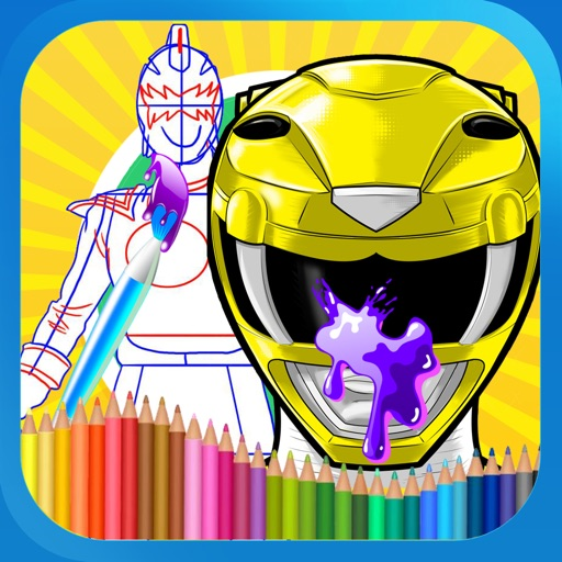 Paint Kids Power Ranger Edition iOS App