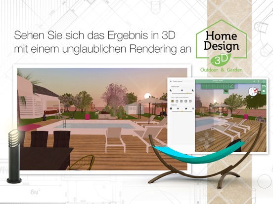 home design 3d outdoor garden im app store. Black Bedroom Furniture Sets. Home Design Ideas
