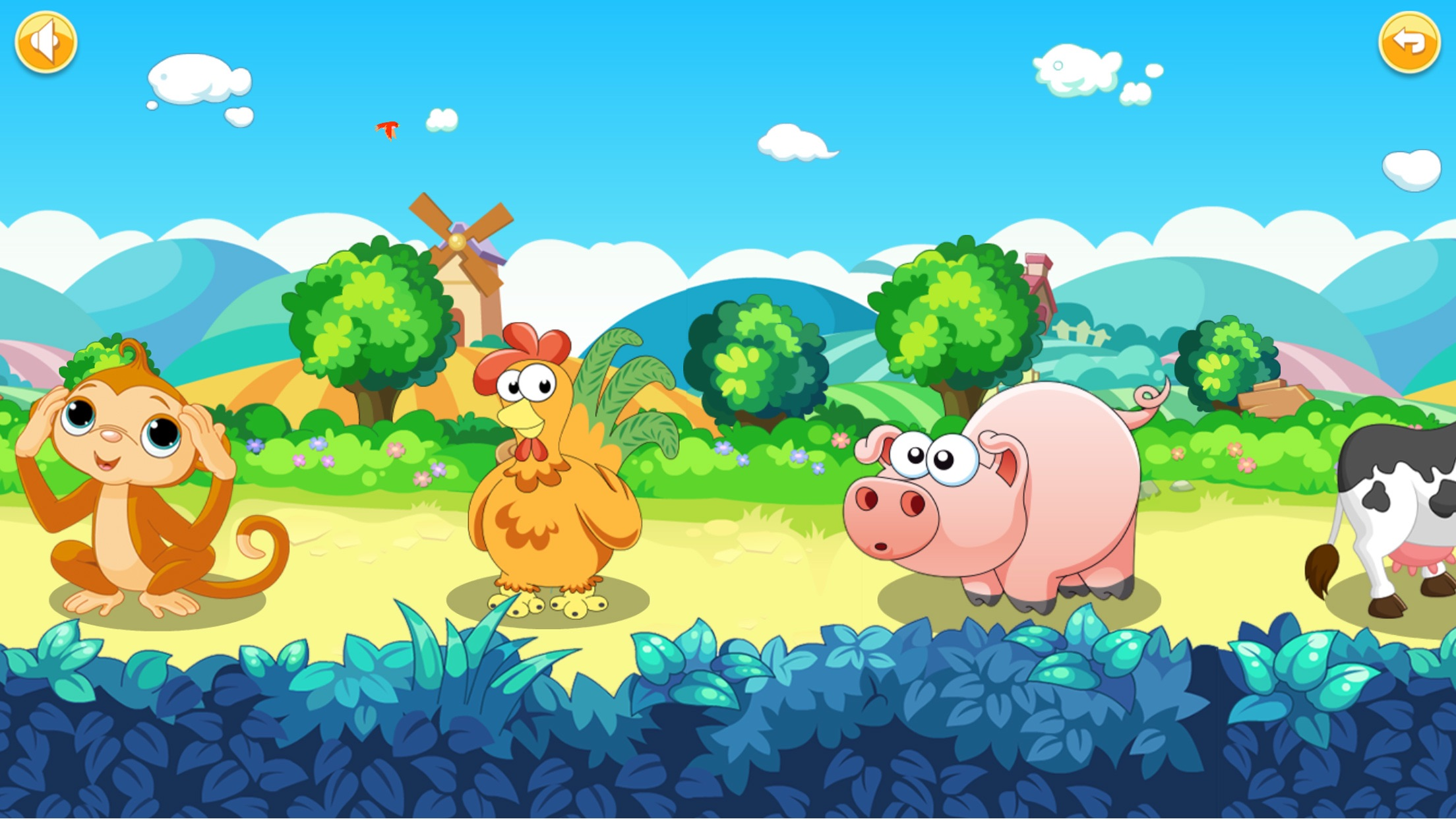 动物乐园-宝宝识动物声音(卡通动物 语音教学)