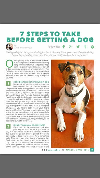 Dog Ownership 101 Magazine review screenshots