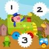 123 Kinder Lernen Zählen mit vielen Mathe-Aufgaben in einem Spiel