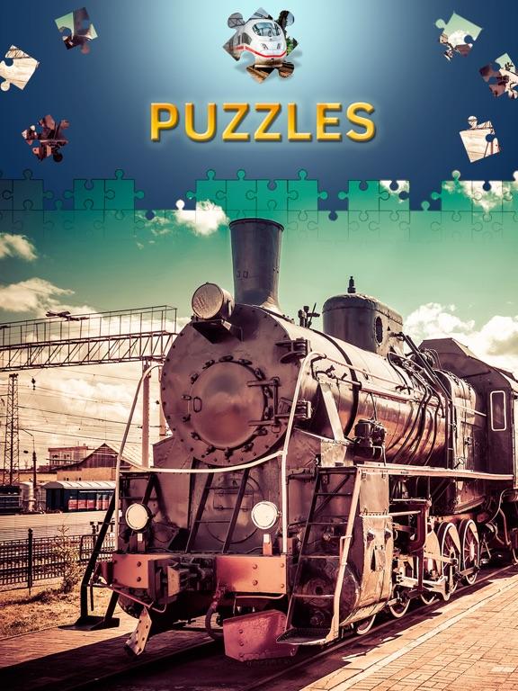 Пазлы поезда игры головоломки пазлы с уровнями на iPad