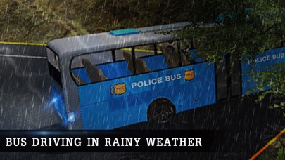 Off Road Police Bus Driving - Transport Cops with Protocol in Extreme Weather Conditions